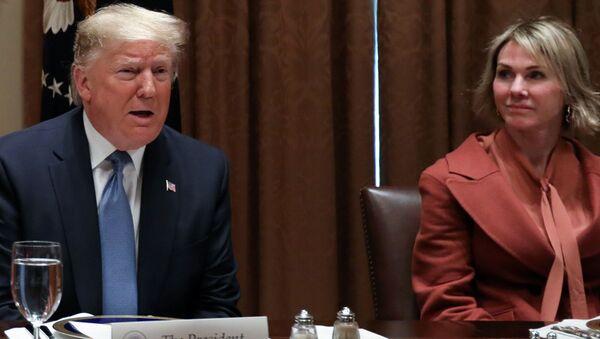 Trump, BM Güvenlik Konseyi (BMGK) üyesi ülkelerin BM Daimi Temsilcileri ile Beyaz Saray'daki öğle yemeğinde bir araya gelerek, gündemi değerlendirdi.  - Sputnik Türkiye