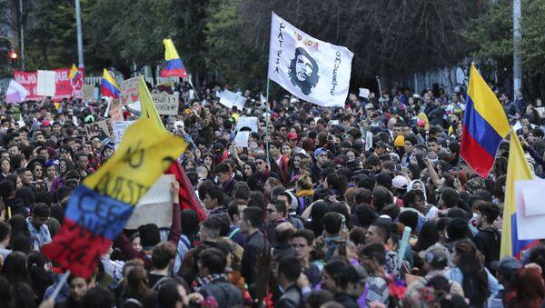 Kolombiya, protesto - Sputnik Türkiye