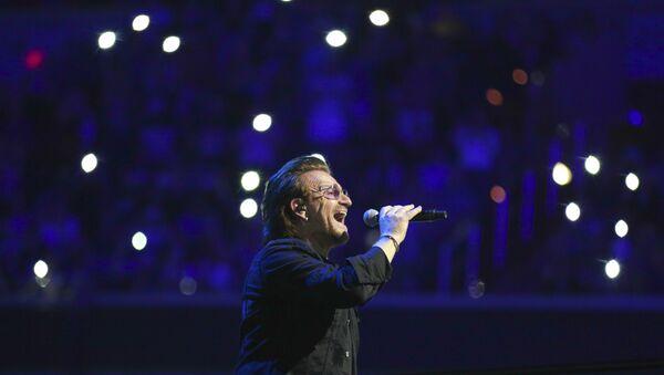 İrlandalı ünlü Rock müzik grubu U2'nin solisti Bono - Sputnik Türkiye