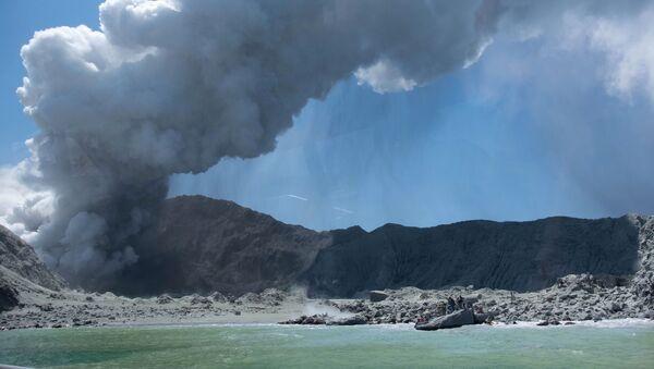 Yeni Zelanda'nın kuzeyindeki Whakaari Yanardağı'nın faaliyete geçmesi sonucu sekiz kişiye ulaşılmayan Beyaz Ada'da herhangi bir hayat belirtisinin bulunmadığı açıklandı. - Sputnik Türkiye