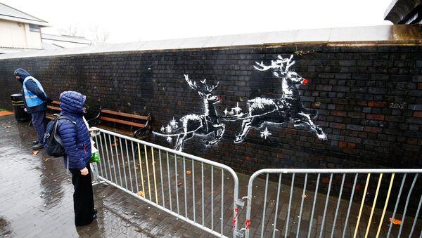 Banksy'nin Birmingham'daki eseri - Sputnik Türkiye