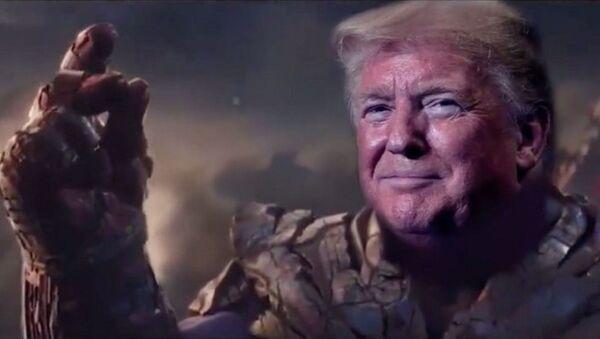 Trump ekibinden Thanos'lu reklam: Bir parmak şıklatmasıya rakiplerini yok ediyor - Sputnik Türkiye