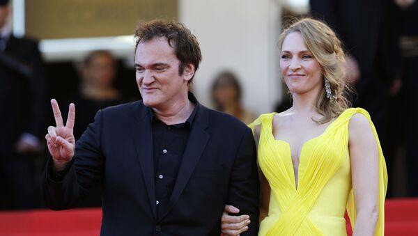 ABD'li yönetmen Quentin Tarantino ve oyuncu Uma Thurman - Sputnik Türkiye