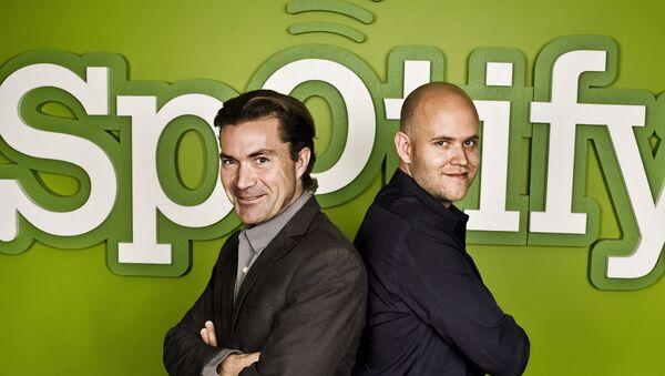 Spotify kurucuları: Daniel Ek, Martin Lorentzon - Sputnik Türkiye