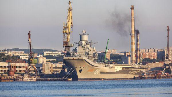 Rusya'nın Amiral Kuznetsov uçak gemisi - Sputnik Türkiye