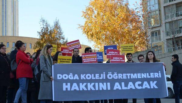 Doğa Koleji öğretmenleri, iş bırakma - Sputnik Türkiye