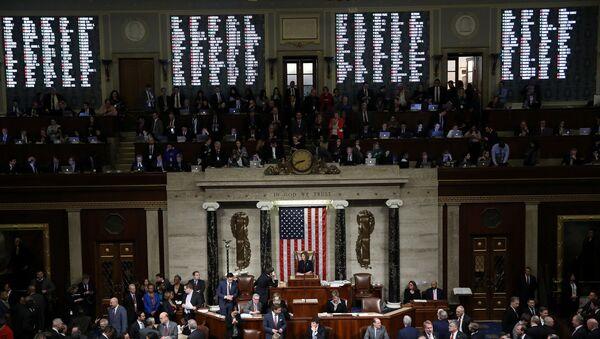 ABD Temsilciler Meclisi Genel Kurulu - Trump'ın azli - Sputnik Türkiye