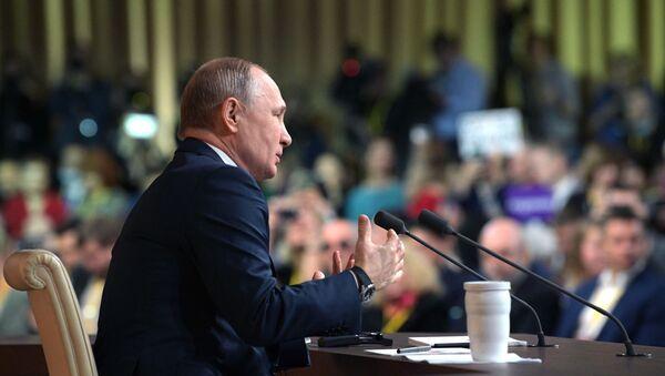 Vladimir Putin'in büyük yıl sonu basın toplantısı - Sputnik Türkiye