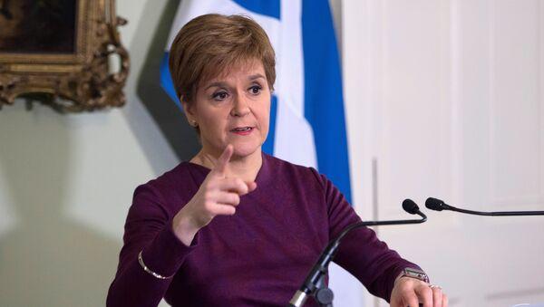 İskoçya Başbakan ve SNP lideri Nicola Sturgeon - Sputnik Türkiye