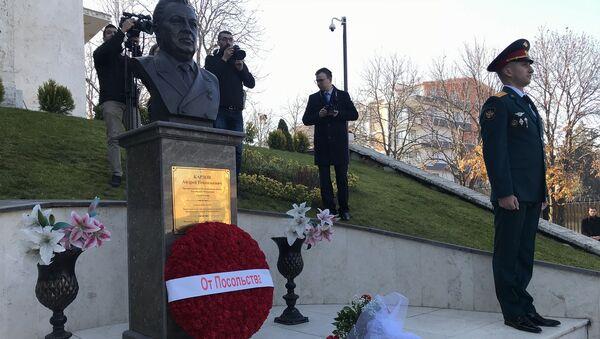Karlov, ölümünün 3. yıl dönümünde Büyükelçilikte düzenlenen törenle anıldı - Sputnik Türkiye
