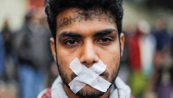 Hindistan'da protestolar - Sputnik Türkiye