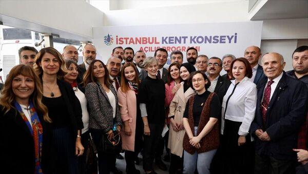 İstanbul Büyükşehir Belediye Başkanı Ekrem İmamoğlu, Saraçhane'de daha önce Gençlik Merkezi olarak kullanılan binanın tahsis edildiği İstanbul Kent Konseyi'nin açılışına katıldı. - Sputnik Türkiye