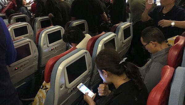 Uçak - yolcu - telefon - Sputnik Türkiye