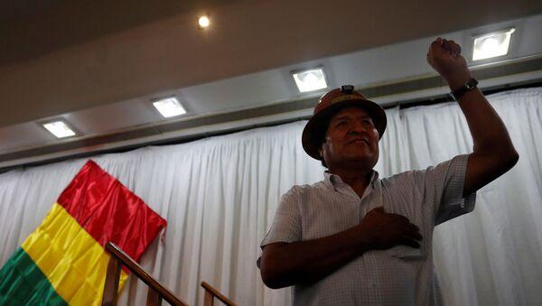 Bolivya'da ordunun ve muhalefetin baskısıyla istifa eden Devlet Başkanı Evo Morales - Sputnik Türkiye