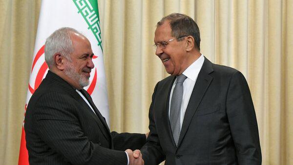 İran Dışişleri Bakanı Cevad Zarif  ve Rusya Dışişleri Bakanı Sergey Lavrov - Sputnik Türkiye