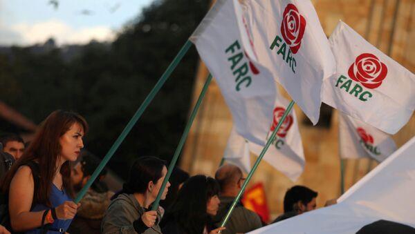 FARC bayrakları - Sputnik Türkiye