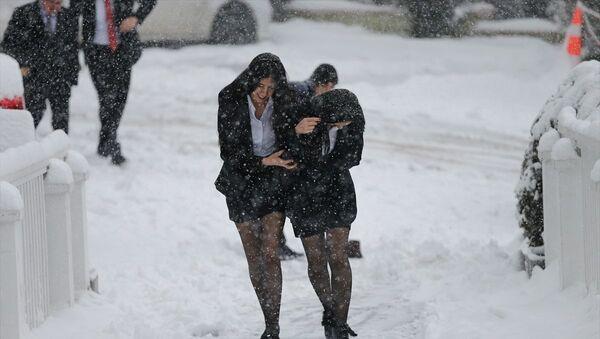 Ankara kar yağışı  - Sputnik Türkiye