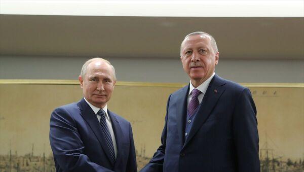 Vladimir Putin- Recep Tayyip Erdoğan - Sputnik Türkiye