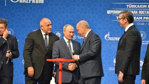 TürkAkım doğal gaz boru hattının açılış töreni - Sputnik Türkiye