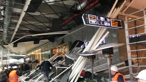 Zorlu AVM'de bulunan kafenin çatısı çöktü - Sputnik Türkiye