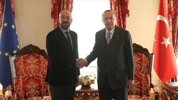 Cumhurbaşkanı Erdoğan AB Konseyi Başkanı Charles Michel  - Sputnik Türkiye