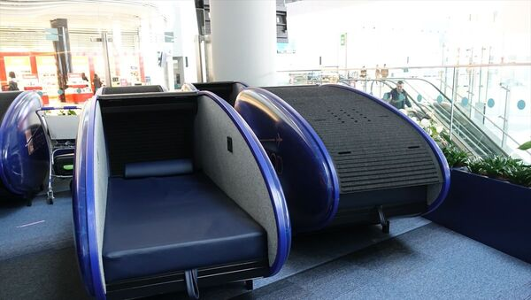 İstanbul Havalimanı'nda uyku kabini  - Sputnik Türkiye