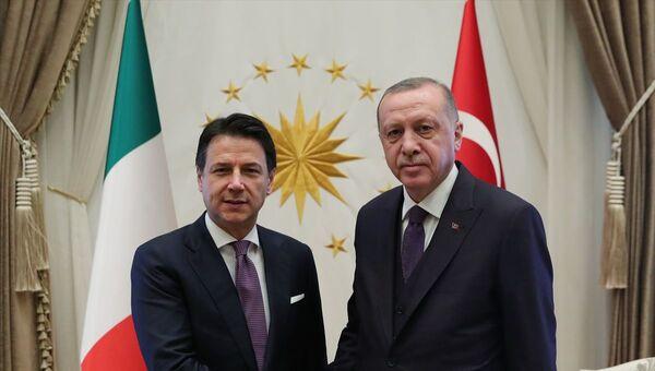 Recep Tayyip Erdoğan, Giuseppe Conte - Sputnik Türkiye
