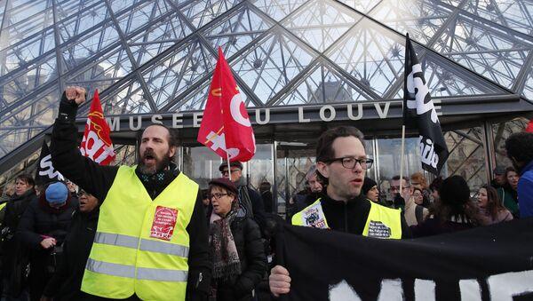 Fransa, emeklilik reformu, grev - Sputnik Türkiye