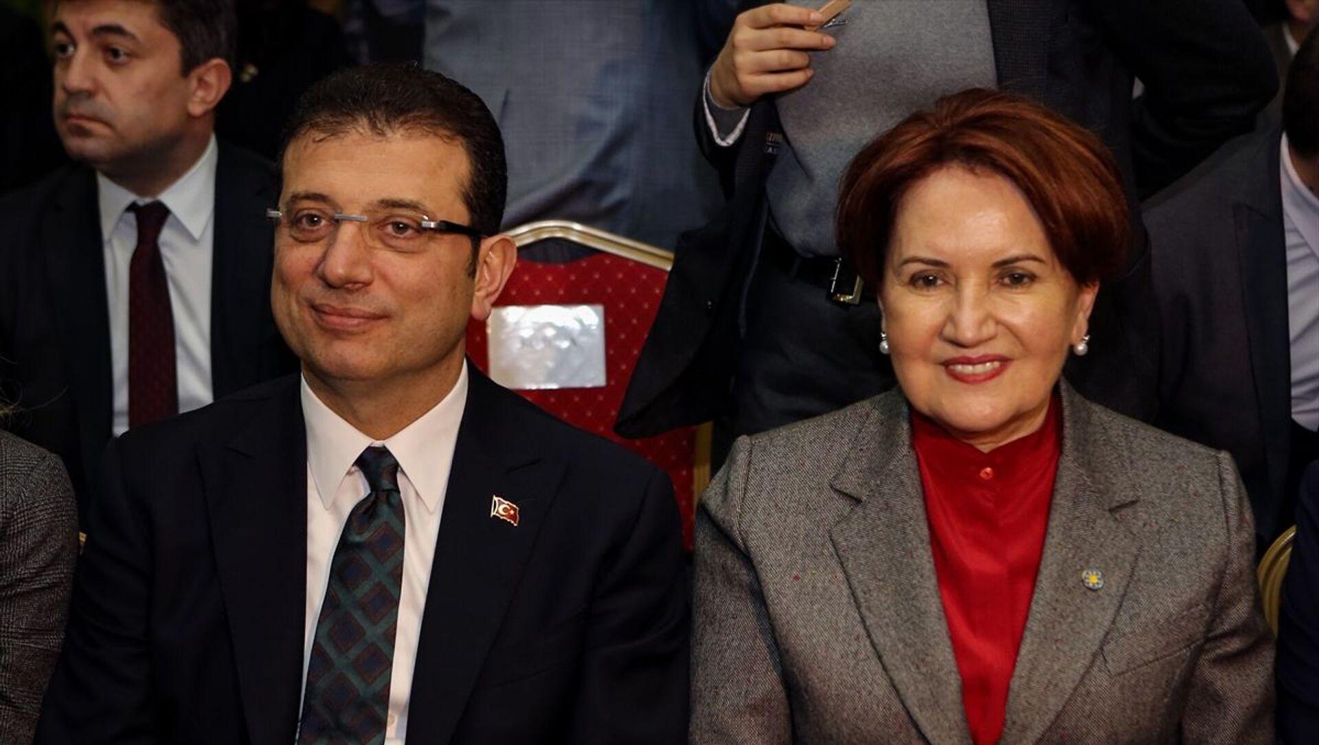 İstanbul Büyükşehir Belediye (İBB) Başkanı Ekrem İmamoğlu ve İYİ Parti Genel Başkanı Meral Akşener - Sputnik Türkiye, 1920, 10.03.2021