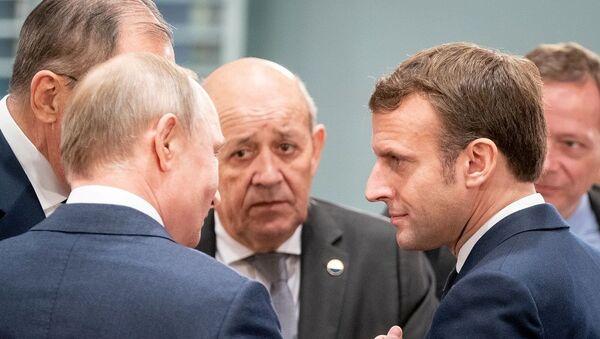 Libya Konferansı Emmanuel Macron - Sputnik Türkiye
