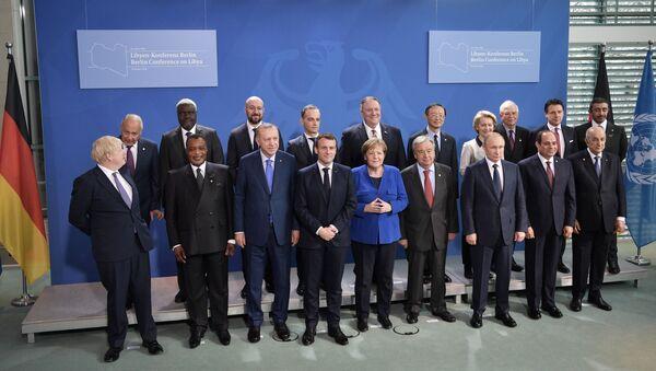 Almanya'nın başkenti Berlin'de düzenlenen Libya Konferansı - Sputnik Türkiye