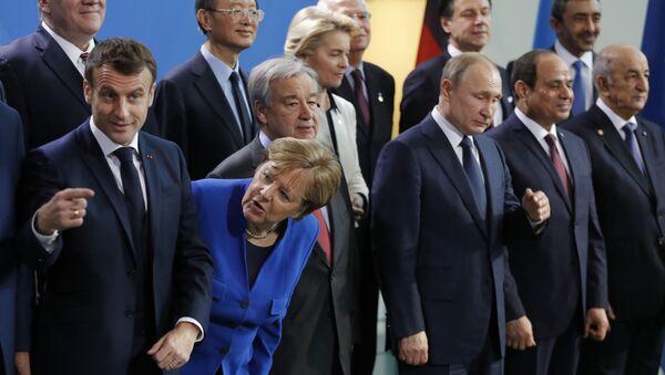 Almanya'nın başkenti Berlin'deki Libya konferansı - Sputnik Türkiye