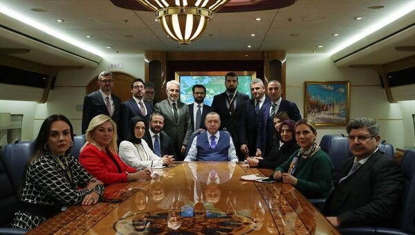 Recep Tayyip Erdoğan, Almanya, uçak, gazeteciler - Sputnik Türkiye