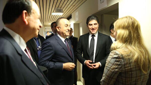Dışişleri Bakanı Mevlüt Çavuşoğlu, IKBY Başbakanı Neçirvan Barzani  - Sputnik Türkiye