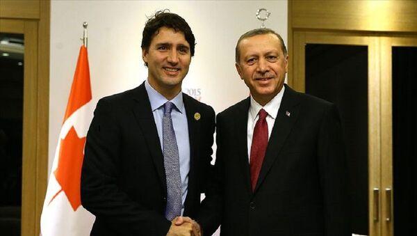 Recep Tayyip Erdoğan, Justin Trudeau  - Sputnik Türkiye