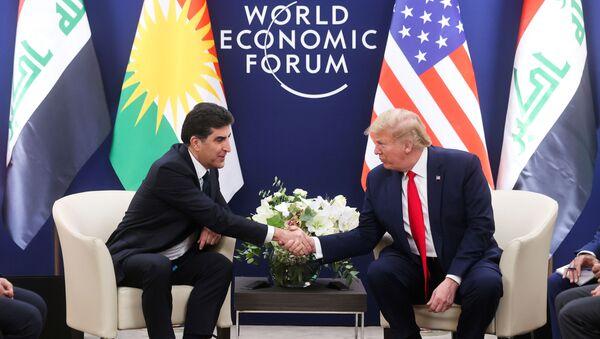 Davos'ta Donald Trump-Neçirvan Barzani görüşmesi - Sputnik Türkiye