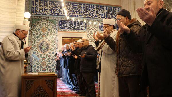 Edirne Selimiye Camii'nde yağmur duası - Sputnik Türkiye