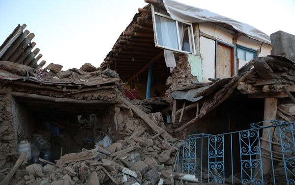 Çevrimtaş Köyü'nde evlerin neredeyse hepsi yıkıldı - Sputnik Türkiye