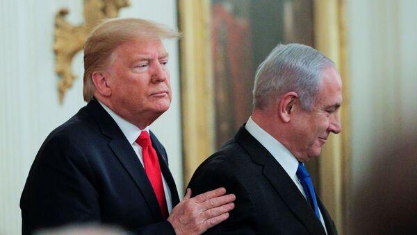 Donald Trump ve Benyamin Netanyahu - Sputnik Türkiye