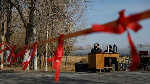 Çin'de koronovirüs salgınının merkezi Hubey eyaletine komşu köyler, yolları kapatıp kontrol noktaları kuruyor. - Sputnik Türkiye