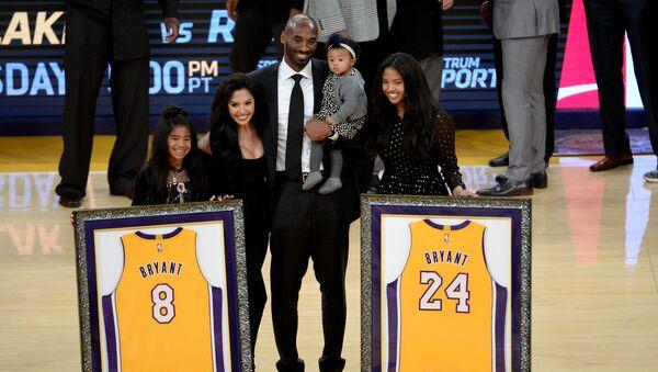 Kobe Bryant ve ailesi - Sputnik Türkiye