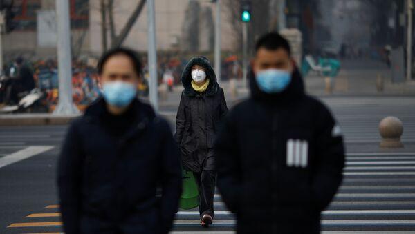 Pekin - Çin - koronavirüs - maske - Sputnik Türkiye