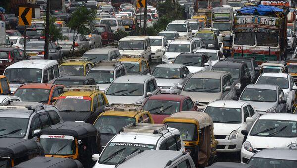 Hindistan-Mumbai-trafik - Sputnik Türkiye