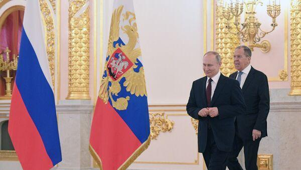Vladimir Putin ve Sergey Lavrov - Sputnik Türkiye