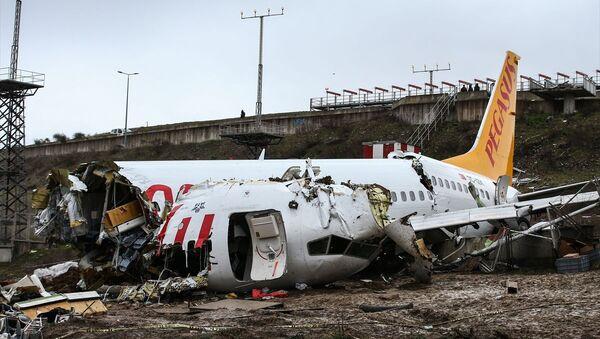 Sabiha Gökçen Havalimanı'na iniş yapan uçak pistten çıktı - Sputnik Türkiye