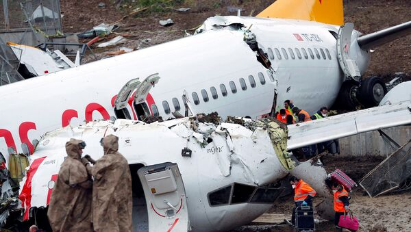 Sabiha Gökçen Havalimanı'nda pistten çıkan uçak - Sputnik Türkiye