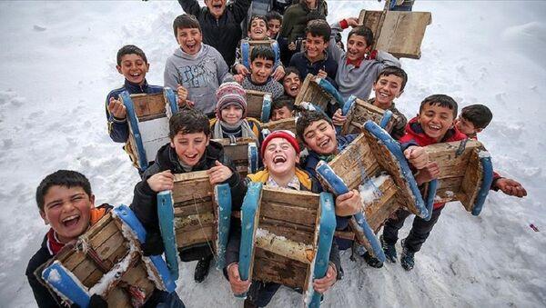 Eğitime kar tatili - Sputnik Türkiye