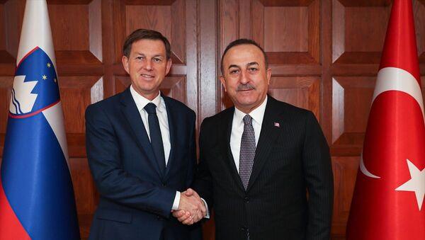 Dışişleri Bakanı Mevlüt Çavuşoğlu- Slovenya Dışişleri Bakanı Miro Cerar - Sputnik Türkiye