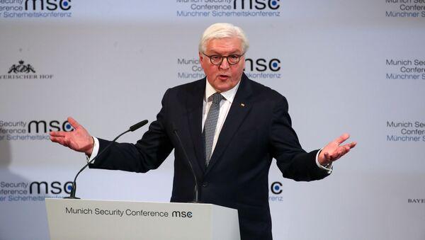 56. Münih Güvenlik Konferansı'nın açılış konuşmasını gerçekleştiren Almanya Cumhurbaşkanı Frank Walter Steinmeier  - Sputnik Türkiye