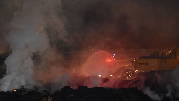 Adana, pamuk yağı fabrikasındaki yangın - Sputnik Türkiye